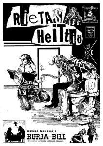 Rietas Heittiö - sarjakuva-albumin kansi