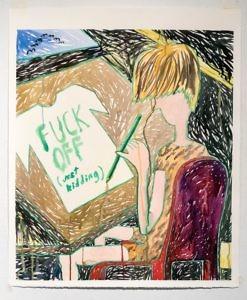 """""""Graafinen suunnittelija"""", 2016, akvarelli paperille, 85x105 cm."""