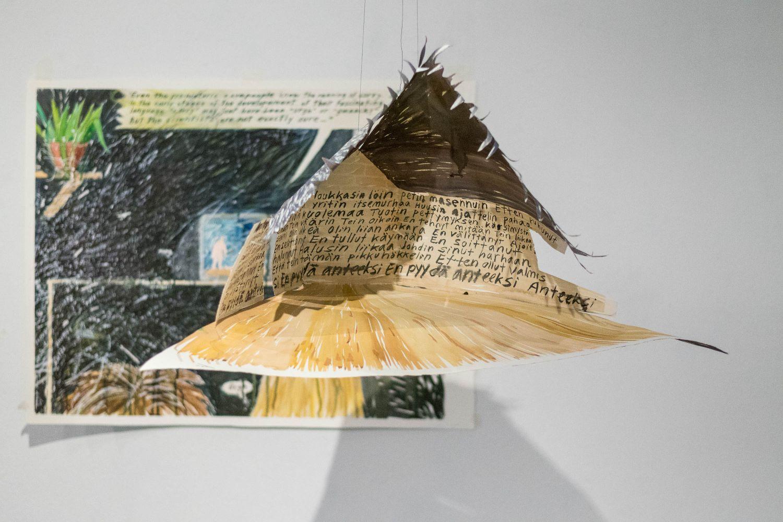 """Sorin talo"", 2016, akvarelli paperille ja liima, 40x60x70 cm."