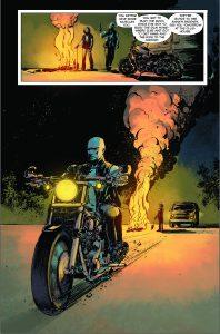 Ote tulevasta Blood, Skull & Chrome -sarjakuvasta.