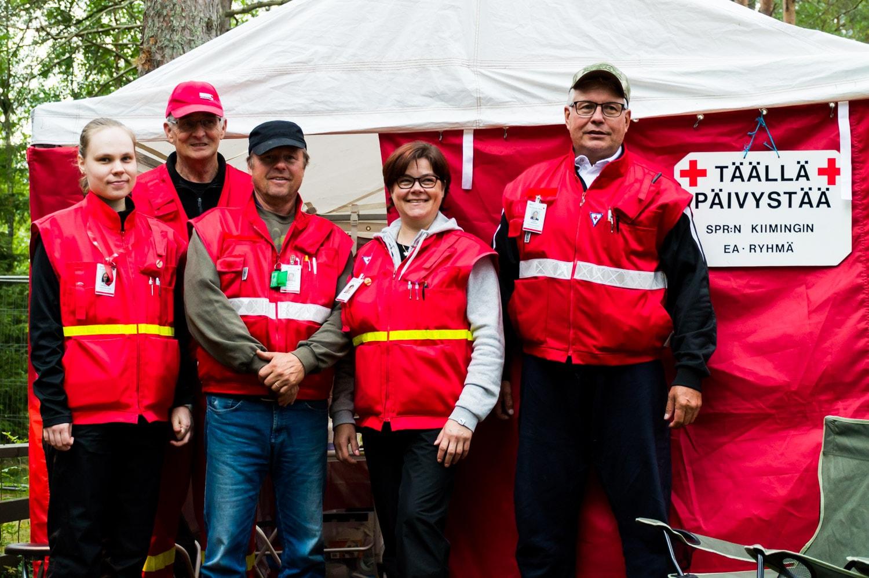 Kiimingin Punaisen ristin vapaaehtoiset on koulutettu huolehtimaan juhlakansasta.