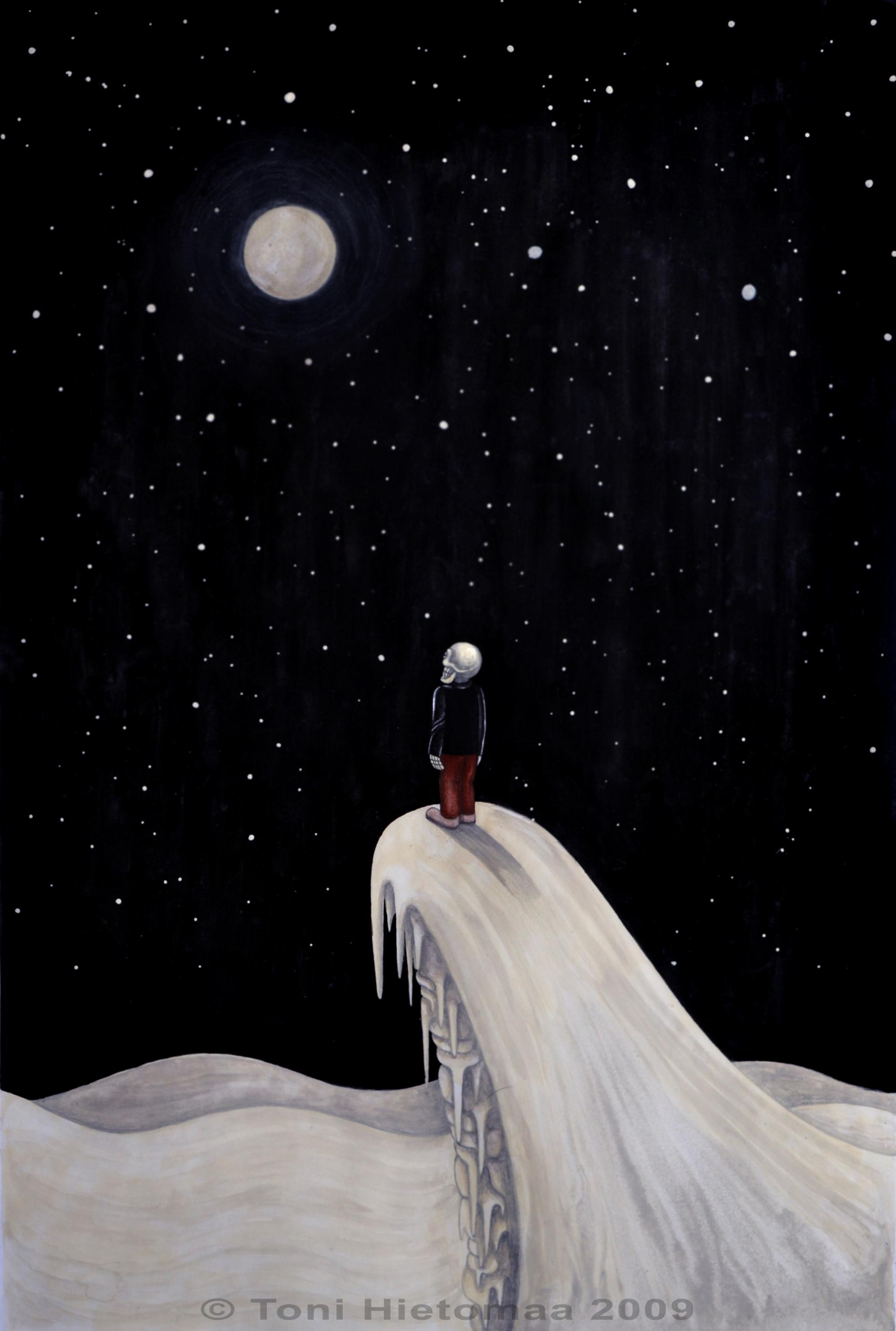 Toni Hietomaa - 2009 ''Täällä maa, kuuleeko kuu'' (Ainoa -näyttely)