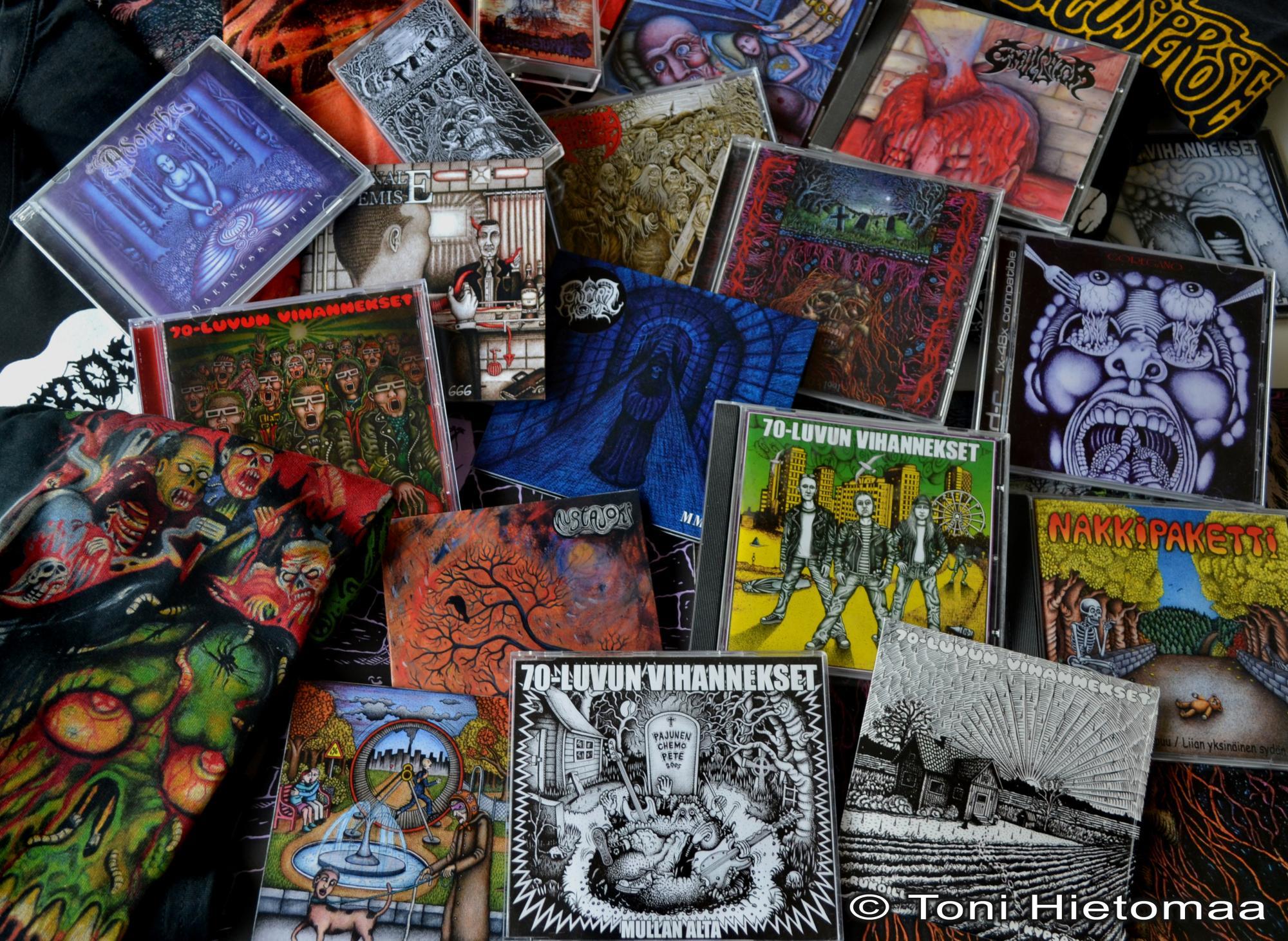 Toni Hietomaa - CD-kannet